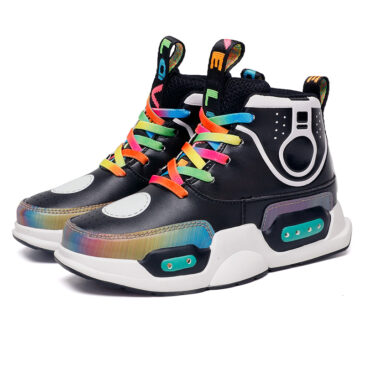LED Light Up Shoes Boys Girls Kids 2 Colors Flashing Sneakers