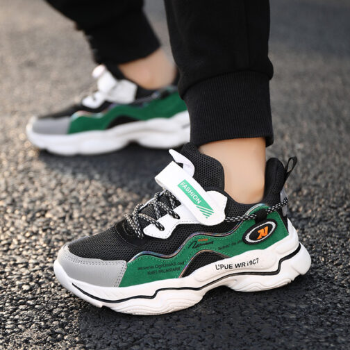 Kids Bright Sneakers Boys Girls Trainer Shoes