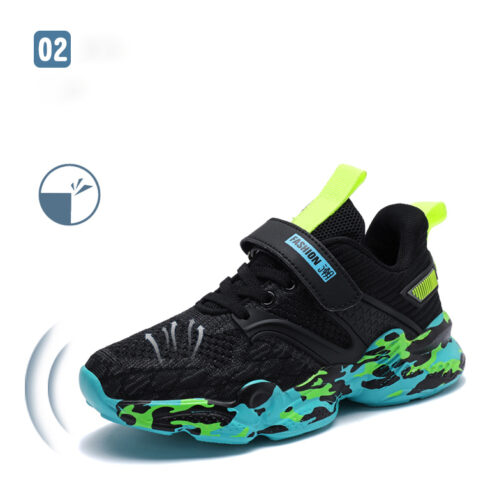 Kids Camouflage Sneakers Boys Girls Trainer Shoes 57