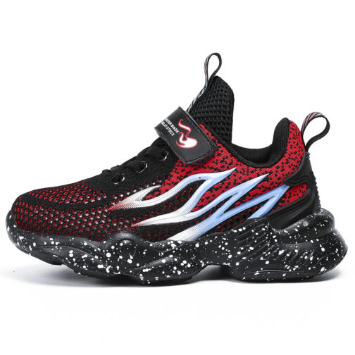 Kids Flame Sneakers Boys Girls Trainer Shoes 19