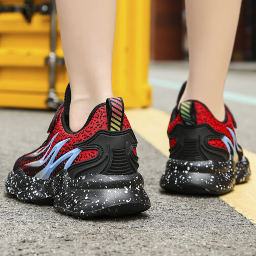 Kids Flame Sneakers Boys Girls Trainer Shoes 36
