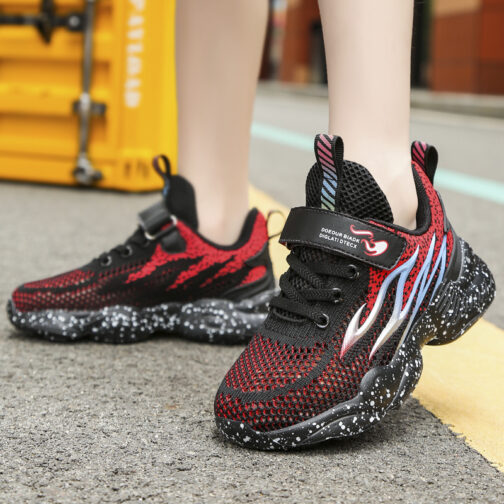 Kids Flame Sneakers Boys Girls Trainer Shoes