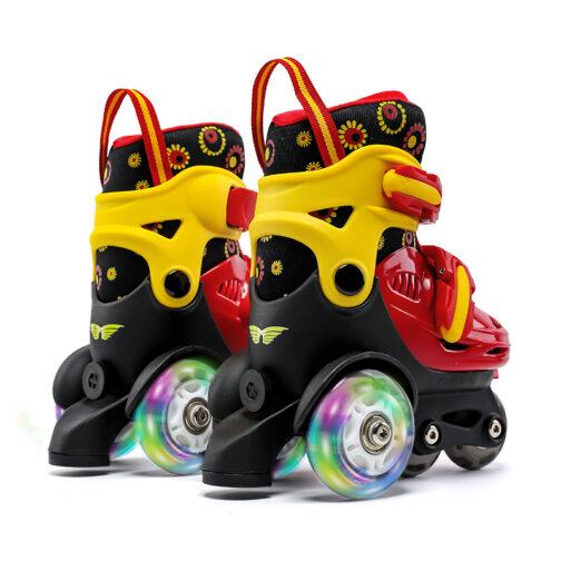 Kids Boys Girls Roller Skates Adjustable Skating Shoes for Beginners