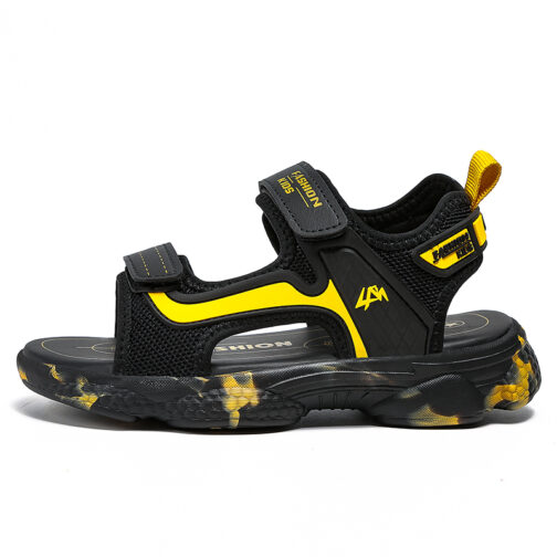 Kids Boys Baby's Open Toe Adjustable Athletic Sandals 21