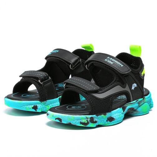 Kids Boys Baby's Open Toe Adjustable Athletic Sandals 23