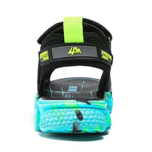 Kids Boys Baby's Open Toe Adjustable Athletic Sandals 26