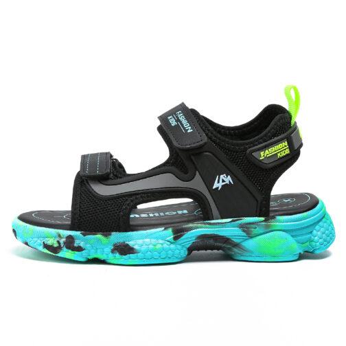 Kids Boys Baby's Open Toe Adjustable Athletic Sandals 27