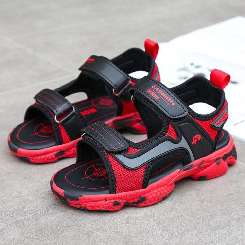 Kids Boys Baby's Open Toe Adjustable Athletic Sandals 37