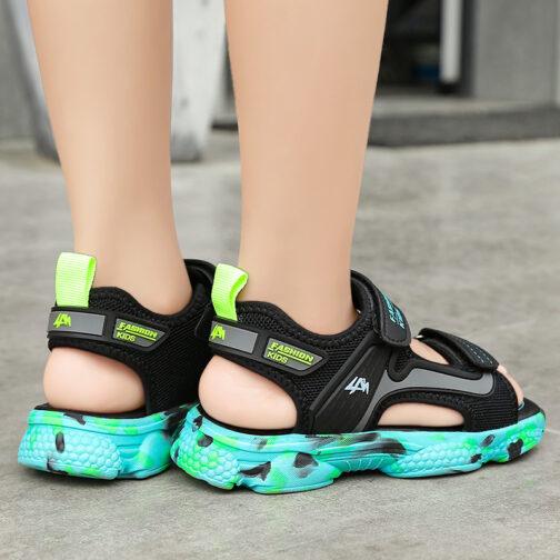 Kids Boys Baby's Open Toe Adjustable Athletic Sandals