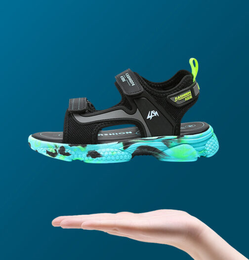 Kids Boys Baby's Open Toe Adjustable Athletic Sandals 53