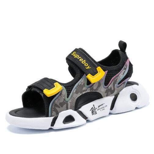 Kids Boys Babys Superboy Adjustable Athletic Sandals 1