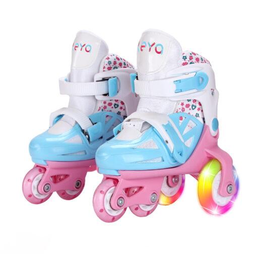 Kids Boys Girls Roller Skates Adjustable Outdoor Skating Shoes for Beginners 1