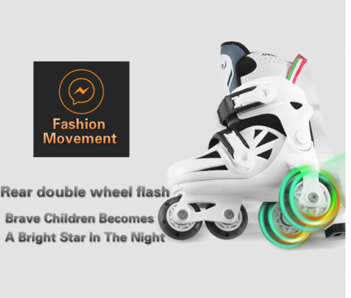 Kids Boys Girls Roller Skates Adjustable Outdoor Skating Shoes for Beginners 11