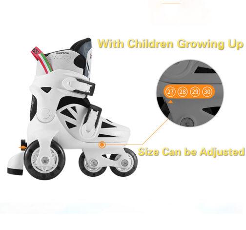 Kids Boys Girls Roller Skates Adjustable Outdoor Skating Shoes for Beginners 12