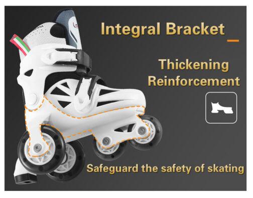 Kids Boys Girls Roller Skates Adjustable Outdoor Skating Shoes for Beginners 13