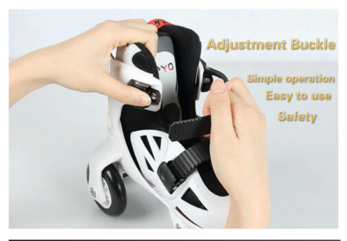 Kids Boys Girls Roller Skates Adjustable Outdoor Skating Shoes for Beginners 18