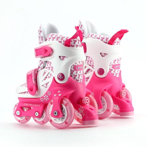 Kids Boys Girls Roller Skates Adjustable Outdoor Skating Shoes for Beginners