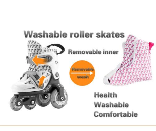 Kids Boys Girls Roller Skates Adjustable Outdoor Skating Shoes for Beginners 9