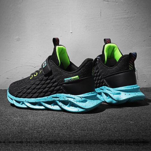Kids Fish Scale Sneakers Boys Girls Trainer Shoes 24