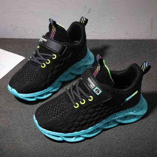 Kids Fish Scale Sneakers Boys Girls Trainer Shoes 27
