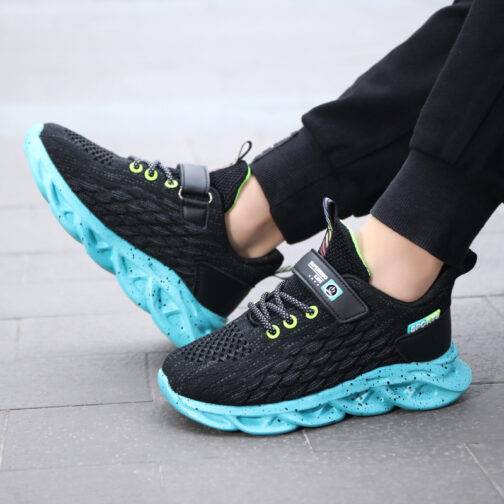 Kids Fish Scale Sneakers Boys Girls Trainer Shoes