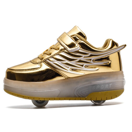 Light Up Shoes Boys Girls Kids Roller Skates Sneakers USB Charge LED Wheeled Skate 1