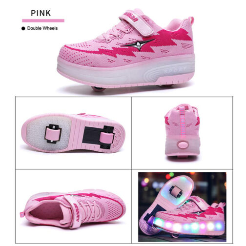Roller Skates Boys Girls Kids Led Light Up Shoes Sneakers Skating Shoes for Beginners