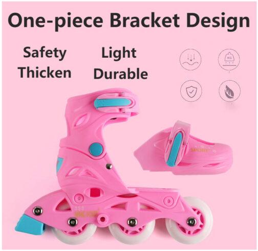 Roller Skates Kids Boys Girls Adjustable Multi Function Convertible Skating Shoes Beginners Inline Skates 2