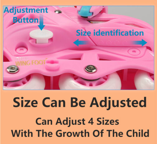 Roller Skates Kids Boys Girls Adjustable Multi Function Convertible Skating Shoes Beginners Inline Skates 7