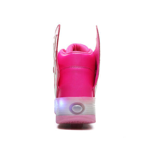 Roller Skates Kids Boys Girls Light Up Shoes USB Charge LED Wheeled Skate Sneakers 12