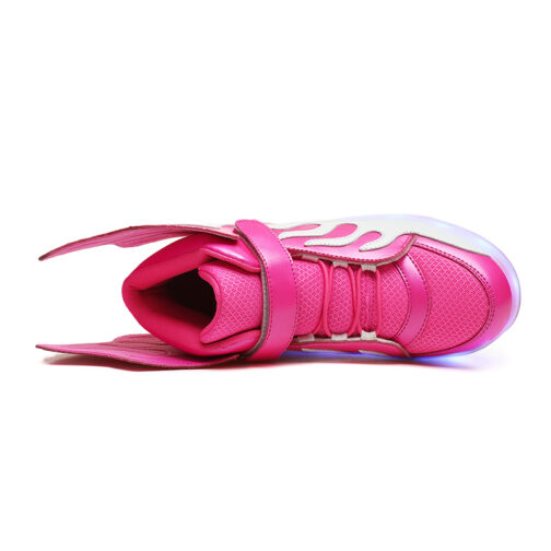 Roller Skates Kids Boys Girls Light Up Shoes USB Charge LED Wheeled Skate Sneakers 13