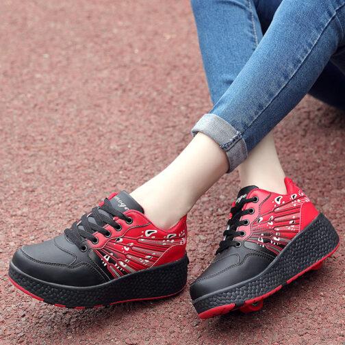 Roller Skates Kids Boys Girls Sneakers Wheeled Skates