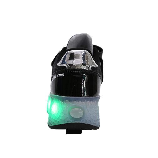 Roller Skates Light Up Shoes Kids Girls Boys USB Charge LED Wheeled Skate Sneakers 12