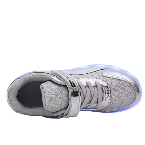 Roller Skates Light Up Shoes Kids Girls Boys USB Charge LED Wheeled Skate Sneakers 15