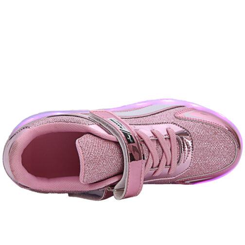 Roller Skates Light Up Shoes Kids Girls Boys USB Charge LED Wheeled Skate Sneakers 19