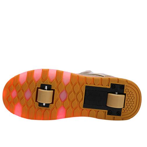 Roller Skates Light Up Shoes Kids Girls Boys USB Charge LED Wheeled Skate Sneakers 22