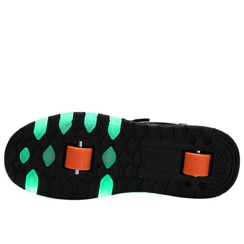 Roller Skates Light Up Shoes Kids Girls Boys USB Charge LED Wheeled Skate Sneakers 7