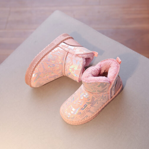 Boys Girls Kids Snow Boots Waterproof Winter Shoes
