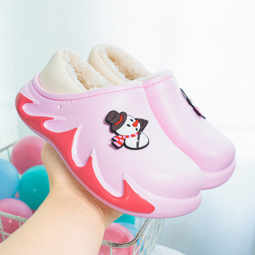 Boys Kids Girls Warm House Slippers Winter Indoor Home Shoes 23