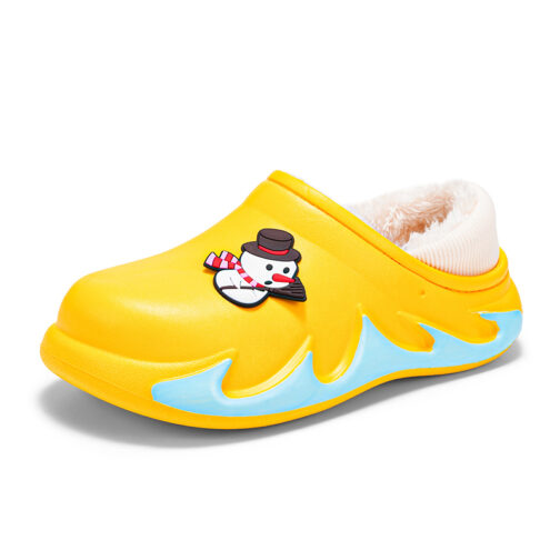 Boys Kids Girls Warm House Slippers Winter Indoor Home Shoes