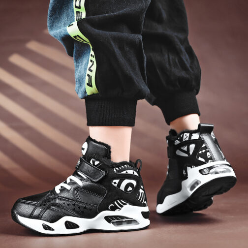 Boys Kids Snow Boot Winter Shoes Warm Sneakers