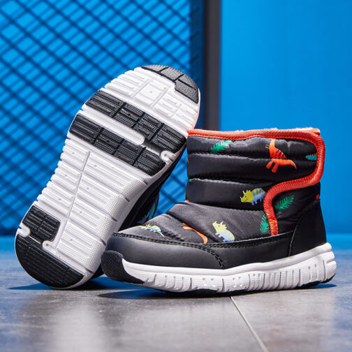 Kids Boys Girls Snow Boots Waterproof Slip Resistant Winter Shoes 61