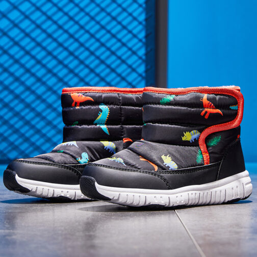 Kids Boys Girls Snow Boots Waterproof Slip Resistant Winter Shoes 62