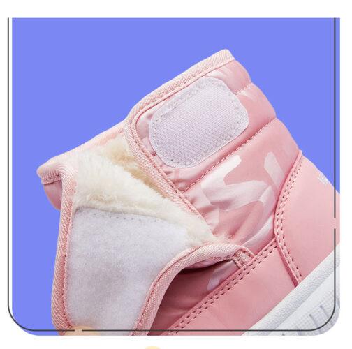 Kids Boys Girls Snow Boots Waterproof Slip Resistant Winter Shoes 83