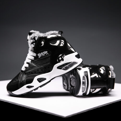 Kids Boys Snow Boot Winter Shoes Warm Sneakers