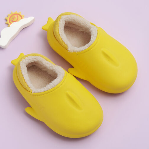 Kids Warm House Slippers Winter Indoor Home Shoes