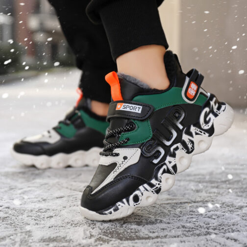 Kids Winter Snow Sneakers Boys Girls Trainer Shoes 35